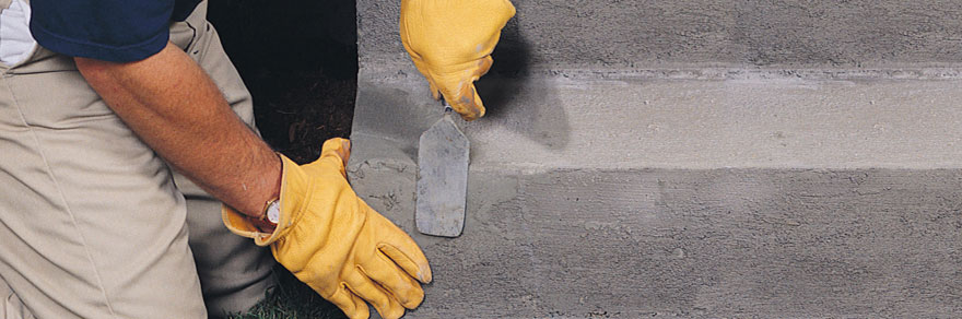concrete steps repair contractors during work